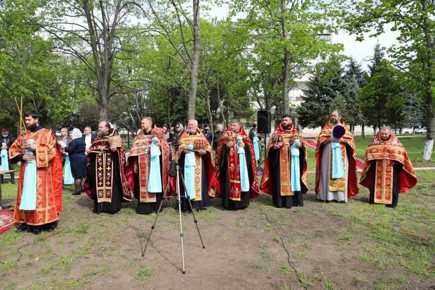 FOTO// O biserică-memorial cu hramul în cinstea Binecredinciosului Voievod Ștefan cel Mare și Sfânt va fi edificată la Ministerul Apărării