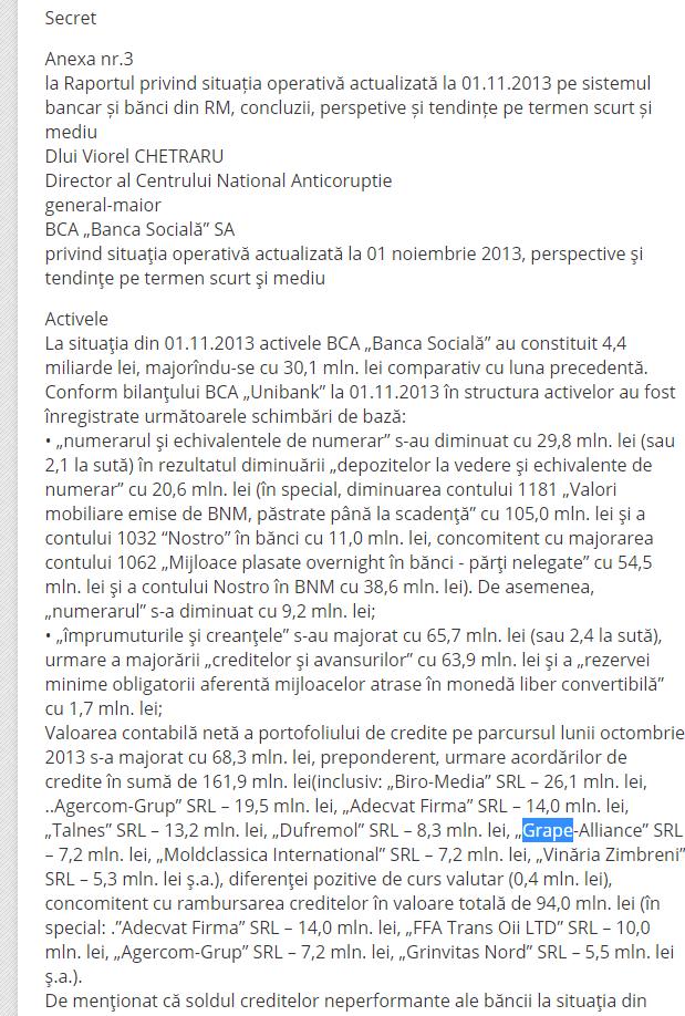 """DESECRETIZAT// Candidatul PAS, Alexandru Catan, administrează o companie care figurează în """"Krollul moldovenesc"""""""