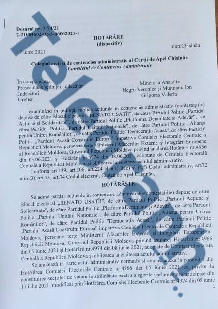 DOC EXCLUSIV // Toate secțiile de votare din diasporă au fost anulate, iar CEC nu mai este în drept să deschidă altele noi