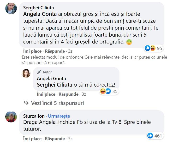 Ex-premierul Ion Sturza, sfat pentru jurnalista Angela Gonța: Închide Facebook și ușa de la TV8